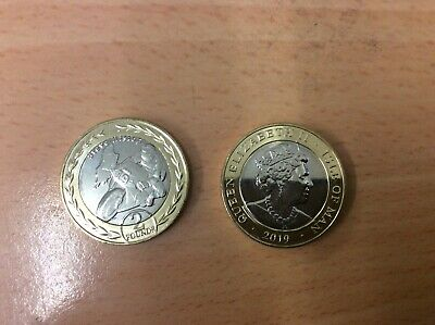 2019 Isle of Man STEVE HISLOP £2 Two Pound Coin,TT RACES from sealed bag