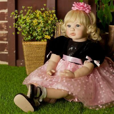 "24"" Big Toddler Doll Soft Body Reborn Baby Dolls Handmade Child Girl Realistic"