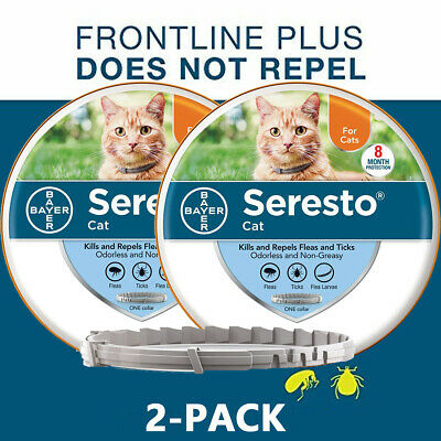 Bayer Seresto Flea and Tick Collar for Cats 8 Months Protection Treatment-2-PACK