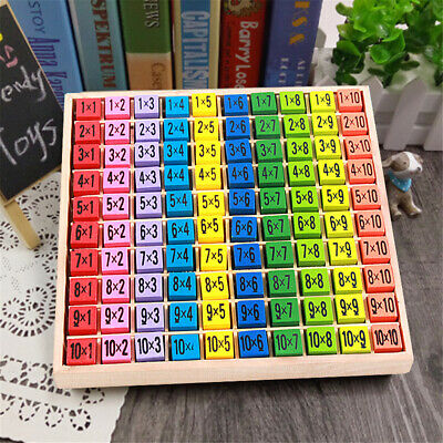 Wooden Times Table Board Educational Learning Resources Montessori Xmas toy Gift