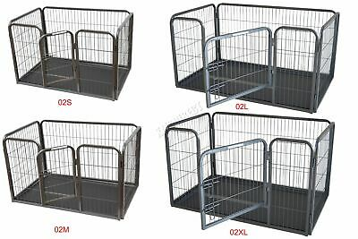 FoxHunter Foldable Pet Play Pen Enclosure Whelping Playpen Dog Exercise Run Cage