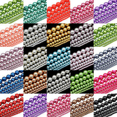 100pcs Top Quality Czech Glass Pearl Round Beads Choose 3MM/4MM/6MM/8MM/10MM