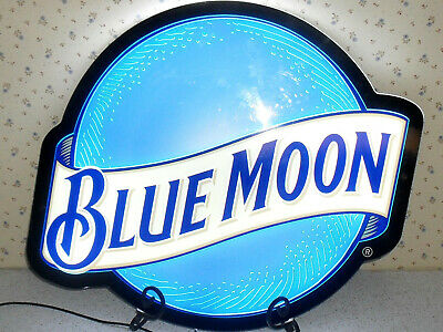 """Blue Moon LED lighted beer sign 23"""" x 18"""" x 3/8"""" thick"""