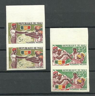 Scout - Mali, Yv # 96/7, Pair Imperforated, Mnh, Vf