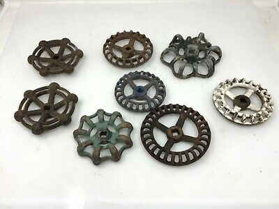 Vintage Plumbing Knobs Faucet Valve Industrial 8 Pc Lot Steampunk Repurpose
