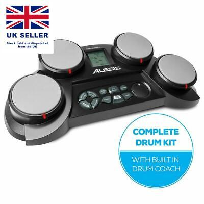 Alesis Compactkit 4 | Ultra-Portable Electronic 4-Pad Tabletop Drum Kit With Vel
