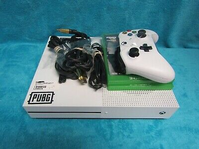 Microsoft Xbox One S 1TB Console - White model 1681 one controller two games