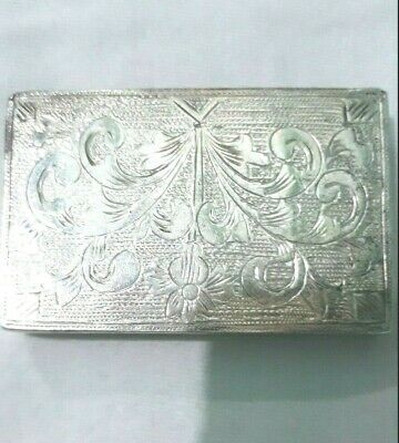 Ancient Mughal 900 Sterling Silver 40 Grams Designer Collectible Tobacco Case