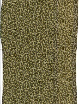 Antique 1880 Light Green Calico Pieced Fabric