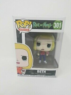 NEW Funko Pop! Animation Rick and Morty Beth with Wine Glass Collectible Figure