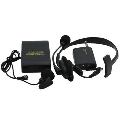 Lapel Clip Microphone Transmitter Receiver UHF Frequency Wireless Headset Mini