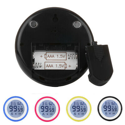screen timer alarm temperature and humidity meter
