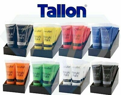 Acrylic Paint.Work of Art.Tube Set All Colours Crafts Artists Painter 120ml.Fast