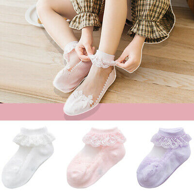 s Baby Girl Lace Bow Cotton Socks NewBorn Toddler Kids Soft Sock durable