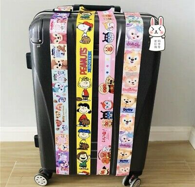 Cartoon Travel Luggage Suitcase Bag Packing Secure Safe Strap Belt Password Lock