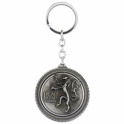 """Game of Thrones-Inspired Lanister Sigil:""""Hear Me Roar!""""Key Chain Pendant(Silver)"""