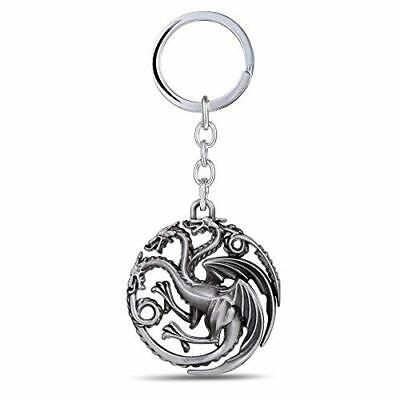 Game of Thrones-Inspired House Targaryen Sigil Key-chain (Silver)