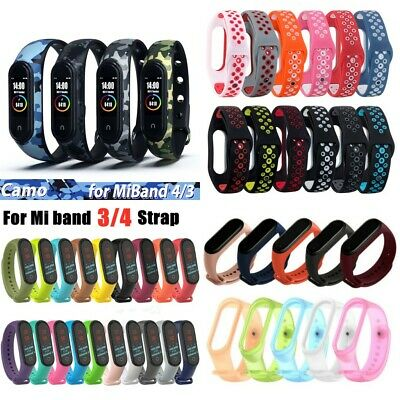 For Xiaomi Mi Band 4 3 Silicone Bracelet Wrist Strap Replacement 60 Styles CA