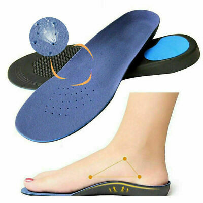 High Arch Orthotic Insoles Support Plantar Fasciitis Flat Feet Back & Heel Pain