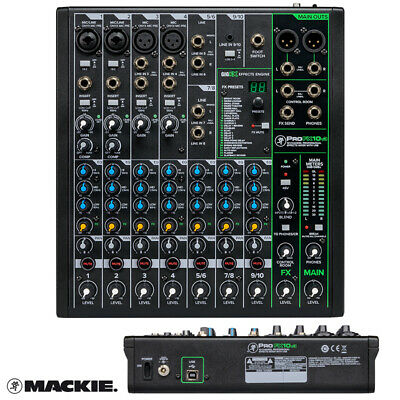 Mackie ProFX10 V3 Compact 10 Channel Mixer with USB and Effects Mixing Desk