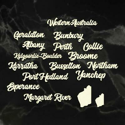 Couture Creations - Sunburnt Country Coaster Board - WESTERN AUSTRALIA CITIES
