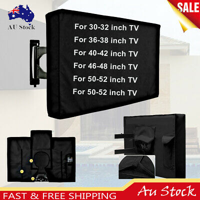 Outdoor Waterproof TV Cover Black Television Protector For 30'' to 58'' LCD LED