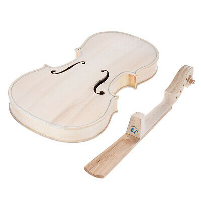 4/4 Full Size Natural Solid Wood Acoustic Violin Kit Spruce Top Maple Back H2R4
