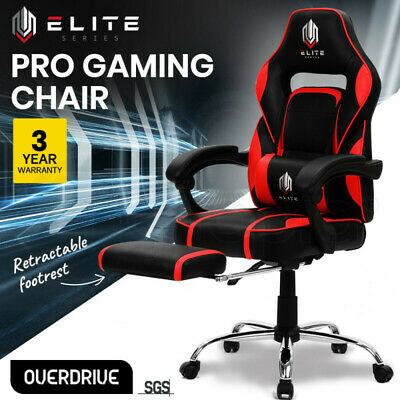 【UP TO 20%OFF】OVERDRIVE Gaming Chair Racing Computer PC Seat Office