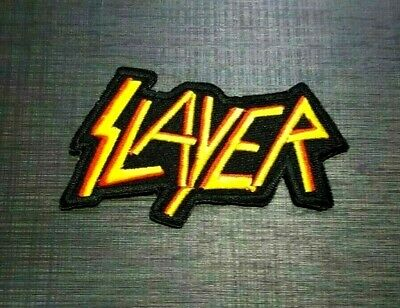 SLAYER ROCK MUSIC HEAVY METAL PUNK WOVEN BAND Embroidered Patch Iron On Sew Logo