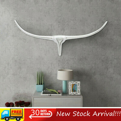 Silver Statue Wall Mounted Aluminium Bull's Head Decoration Multi Sizes New