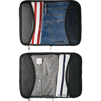 baggallini 2 Large Compression Cubes 3 Colors Travel Organizer NEW