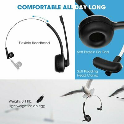 Mpow V4.1 Bluetooth Headset Wireless Over Head with Noise Reduction Mic P8