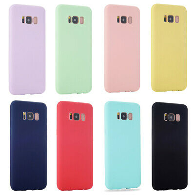 Colorful Candy Color Matte Silicone Case Cover For Samsung Galaxy S8 S9 S10 Plus