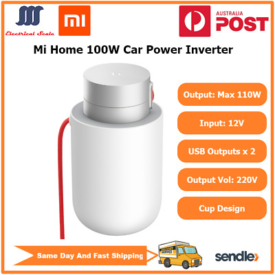 Brand NewXiaomi Car Power Inverter 100W DC12V to AC220V Dual USB Outputs