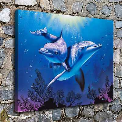 """16""""x20""""dolphin HD Canvas print Painting Home Decor Picture Room Wall art Poster"""