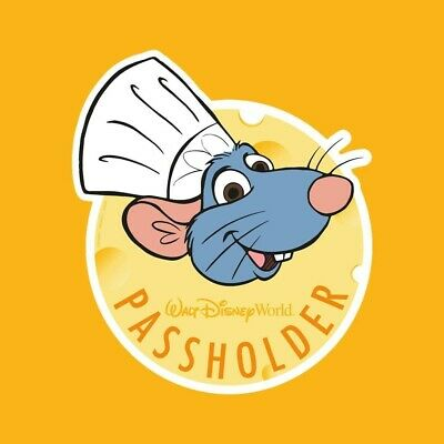 Disney World Annual Passholder Chef Remy MAGNET Food Wine Festival Authentic New