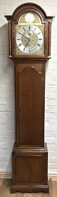 # Antique Brass Dial OAK Grandfather Longcase Clock GOLDSMITHS REGENT ST LONDON