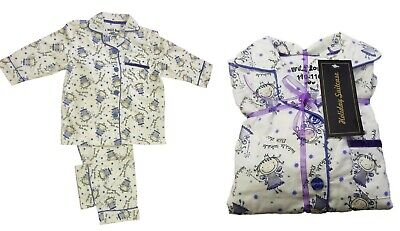 Made In UK Christmas Gift Pack Princess Girls Warm Winter Pyjamas  Age 2-8 Y