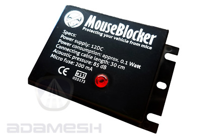 Mouse Blocker Classic 12v - Electronic Rodent Detterant For All Vehicles