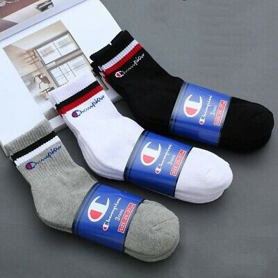 3 Pairs Champion Socks Casual Soft Cotton Sport 3 Color For Winter/Autumn