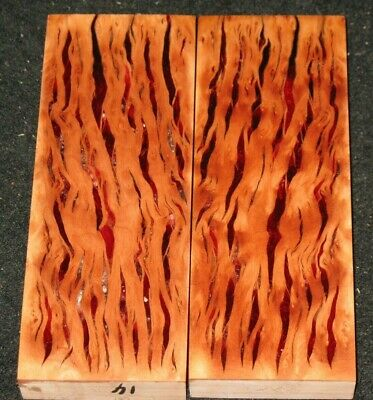 Stablized Madrone Burl Acrylic Hybrid Knife Scales Grips lace