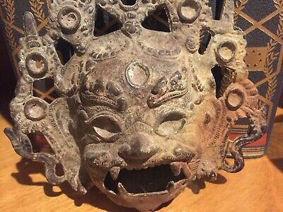 Fabulous Antique Tibetan Bronze of Mahakala Dorje Buddha Head 18th/19th Century