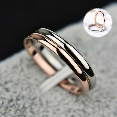 Women Girl Size 3-10 2mm Ring Thin Stackable Stainless Steel Plain Band for