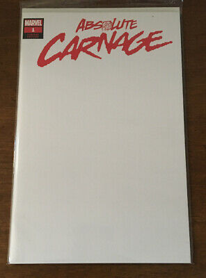 Absolute Carnage #1 Blank Variant Cover NM Unread 2019 Marvel Spider-Man