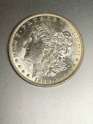 1888 O US $1 Morgan Silver Dollar Brilliant Uncirculated