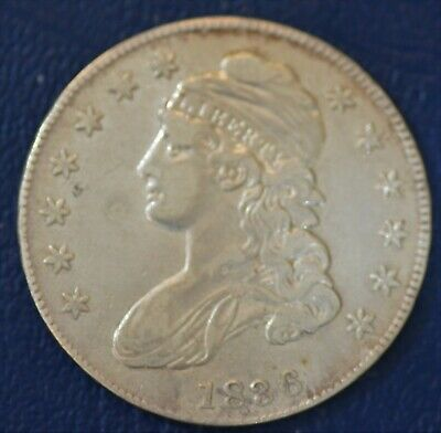1836, Lettered Edge, FINE-VF U.S. Capped Bust Half Dollar