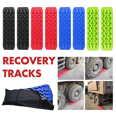 1 Pair Recovery Tracks Sand Track 10T Sand / Snow / Mud Ladders 4WD Black Blue..