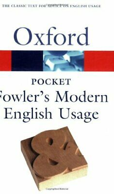 Pocket Fowler's Modern English Usage by Henry W. Fowler Paperback Book The Fast