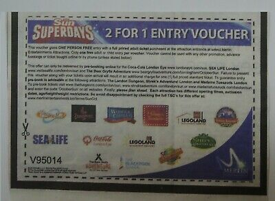 2 FOR 1VOUCHERS For Madame Tussauds London Tickets
