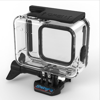 Waterproof Case For Gopro Hero 8 Black Sports Camera Covers 9H Tempered Glass